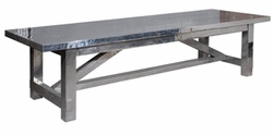 "Aimeri 94"" Dining Table (Aero-Grey)"