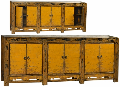 Alberto Antique Yellow Sideboard