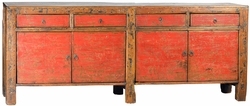 Aldo Antique Red Sideboard