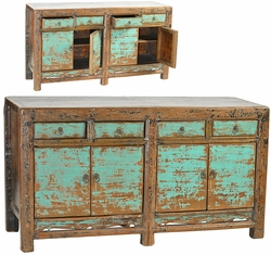 Alessandro Antique Aqua Sideboard