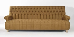 Alex  Sofa (Raw Umber Silk-Birch/Pine)