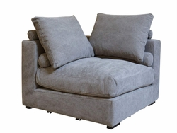 Allard Corner Sofa Section Chair (Stonewash Grey)