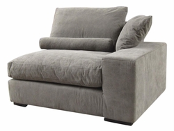 Allard Left Arm Sofa Section Chair (Stonewash Grey)