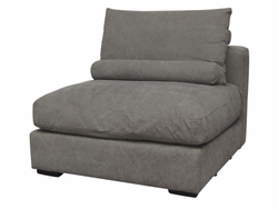 Allard Middle Armless Sofa Section Chair (Stonewash Grey)