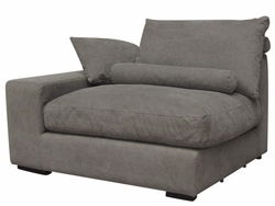 Allard Right Arm Sofa Section Chair (Stonewash Grey)