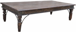 Alonso Distressed Teak Coffee Table