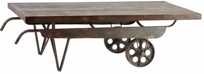 Alphonso Metal Cart Coffee Table