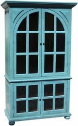 Alpieri Antique Blue Glass Door Cabinet