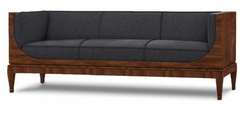 Amable Sofa (Black - Walnut)