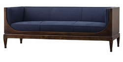 Amadieu Sofa  (Marine Blue - Walnut)