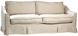 Andrien Slip Covered Sofa (Oatmeal Linen)