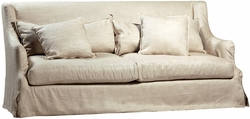 Ansel Slip Covered Sofa - Linen