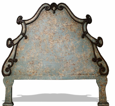 Antiqued King Size Headboard