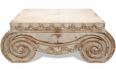 Antiqued Old World  Coffee Table