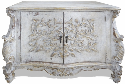Antiqued Old World French Buffet
