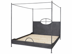 Arsenio Iron Bed - King (Waxed Black)
