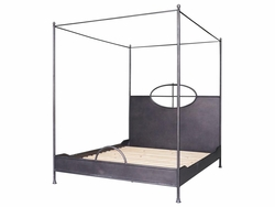 Arsenio Iron Bed - Queen (Waxed Black)