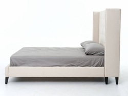Arturo Upholstered King Bed (Snow Cream)