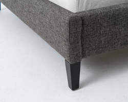 Attilio Upholstered King Bed (Charcoal)