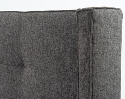 Attilio Upholstered Queen Bed (Charcoal)