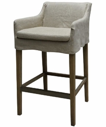 Auberon Bar Stool-Natural Hemp - one pair