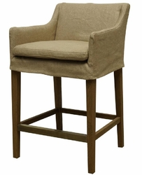 Auberon Counter Stool-Natural Hemp - one pair