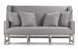Aubert Bench - Grey Linen