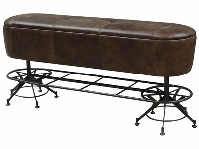 Aubert Counter Bench-Havana-Waxed Black