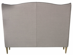 Augusto Wing Upholstered Queen Bed (Taupe)