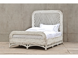 Aurelio Wicker Queen Bed (White)