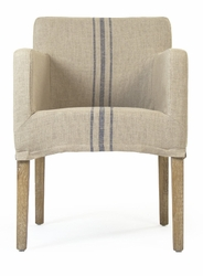 Avignon Slipcover Arm Chair (Blue Stripe) - one pair