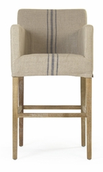 Avignon Slipcover Bar Stool (Blue Stripe) - one pair