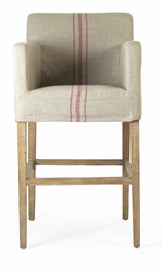 Avignon Slipcover Bar Stool (Red Stripe) - one pair