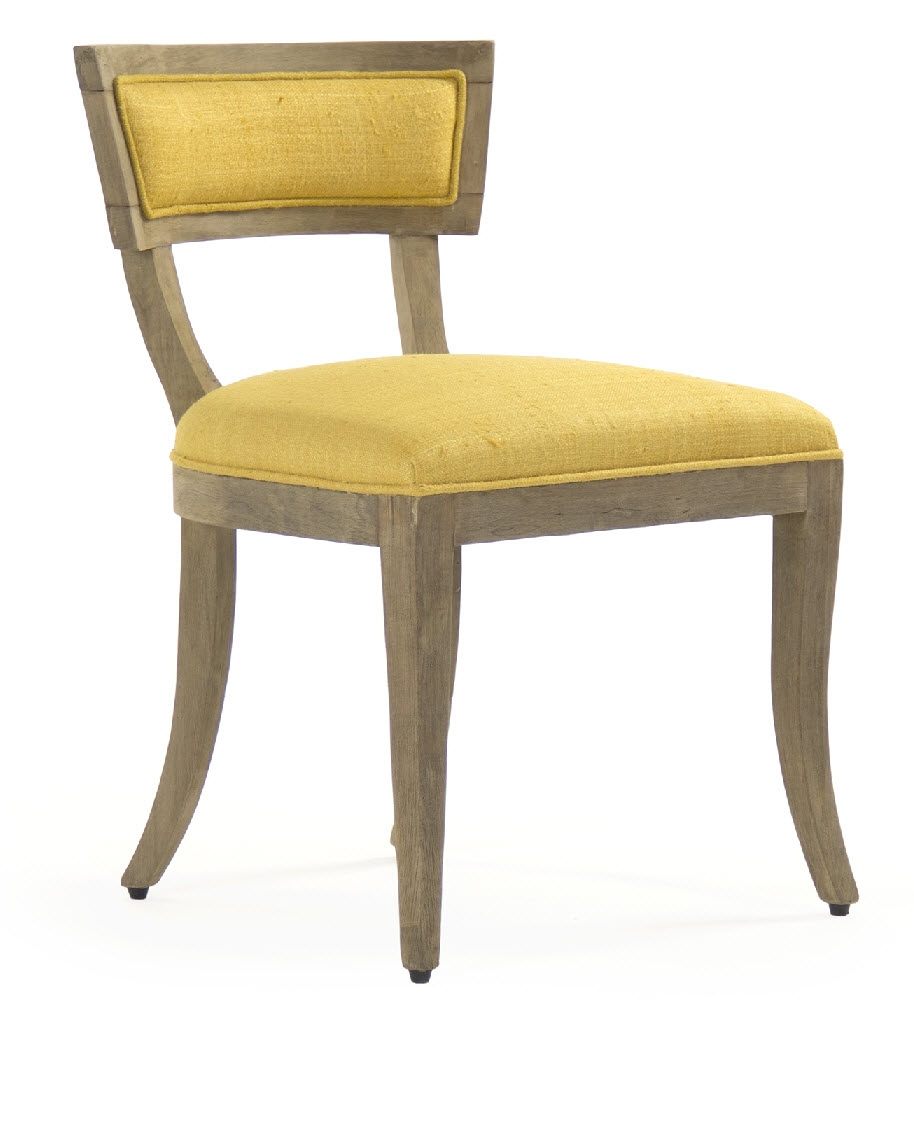 Ayer Side Chair Yellow  One Pair Yellow Side Chair A38