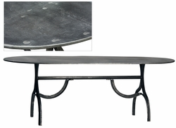 Aymeric Iron Oval Dining Table