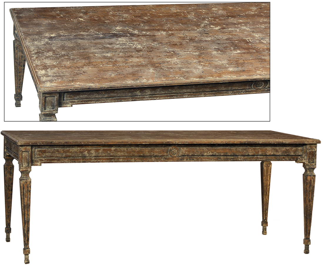 Barthelmy dining table dovetail furniture for Dovetail furniture