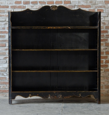 Basilio Distressed Bookcase Black