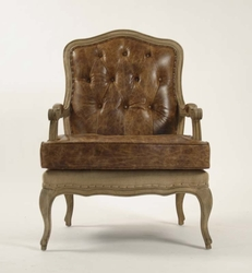 BASTILLE LOVE CHAIR (Leather-Jute)