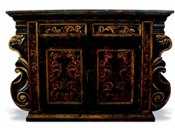 Buffet Manchester Black Baroque Distressed