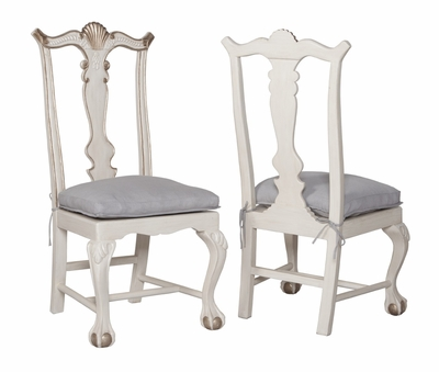 Chippendale Chairs Manor White Wash Guildmaster Dining Chairs