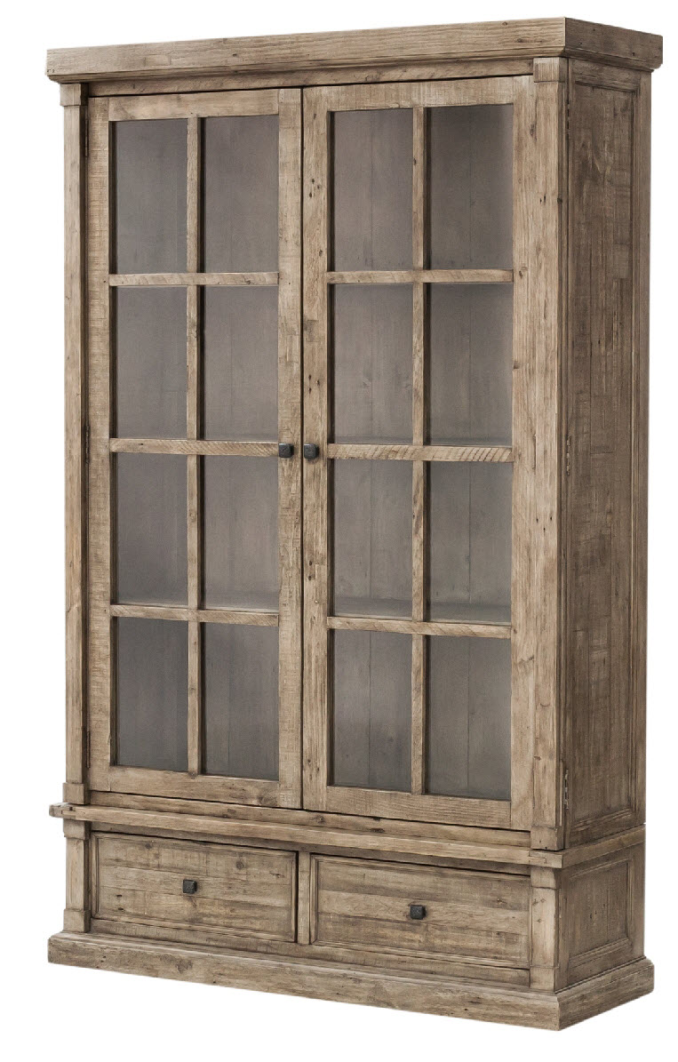 Cintra large display cabinet rustic sund