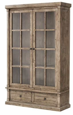 Cintra Large Display Cabinet - Rustic Sund