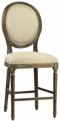 Colombina Counter Stool (Weathered Oak) - one pair