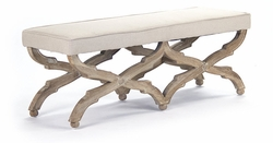 Crescenzo Bench (limed grey oak)