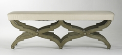 Crescenzo Bench (faux olive green)