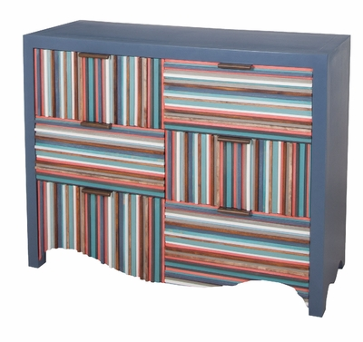 Crosshatch Six Drawer Chest