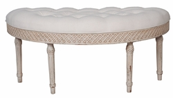 Curved Upholstered Bench