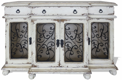 Dallas Sideboard with Wrought Iron