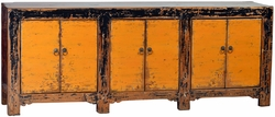 Diamante Antique Yellow Sideboard