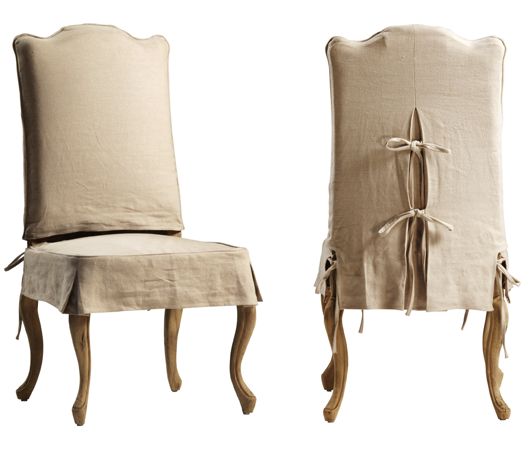Dovetail Dining Chair Slipcover Reclaimed Wood